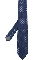 Dell'oglio Polka Dot Print Tie Blue