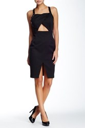 Style Stalker Bands In Town Faux Leather Trim Dress Black