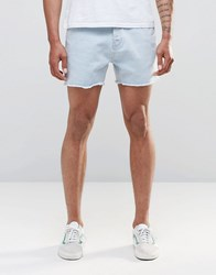 New Look Denim Shorts In Light Wash Light Wash Blue