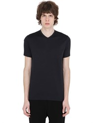 Jil Sander V Neck Mercerized Cotton T Shirt