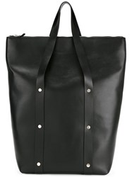 Marni Stud Detail Tote Bag Men Cotton Calf Leather Polyester One Size Black