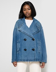 J.W.Anderson Oversized Peacoat Washed Blue