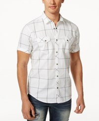 Inc International Concepts Windowpane Short Sleeve Shirt Only At Macy's