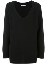 Alexander Wang T By V Neck Jumper Black
