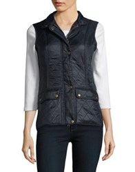 Barbour Sleeveless Quilted Vest Navy