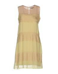 Just For You Short Dresses Light Yellow