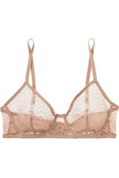 Eres Caraco Lace And Stretch Jersey Underwired Soft Cup Bra Blush