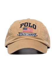 Polo Ralph Lauren Logo Embroidered Baseball Cap Neutrals