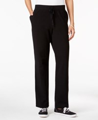 Karen Scott Petite Drawstring Active Pants Only At Macy's Deep Black