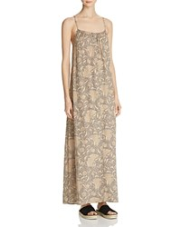 Vince Vintage Floral Silk Maxi Dress Natural