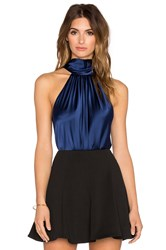 Ramy Brook Paige Tie Neck Tank Navy