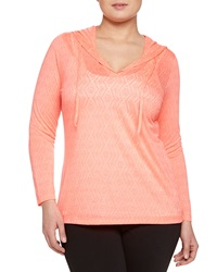 Balance Burnout Long Sleeve Top Coral Chic