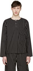 Opening Ceremony Black Pinstriped Tunic
