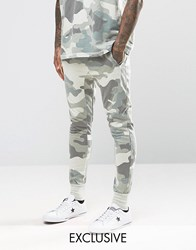 Other Uk Skinny Camo Joggers With Drop Crotch Blue