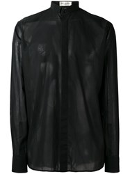 Saint Laurent Concealed Placket Shirt Black