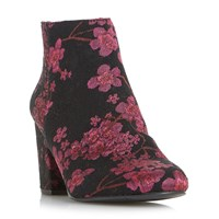 Head Over Heels Orlina Floral Jacquard Ankle Boots Multi Coloured Multi Coloured