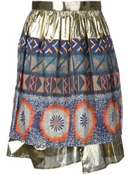 Kolor Metallic Grey Gathered Skirt
