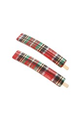 France Luxe Mod Bobby Pin Pair Red