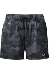 Nike Rebel Camouflage Print Dri Fit Jersey Shorts Black