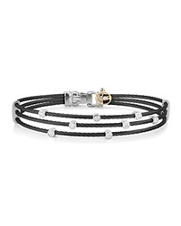 Alor Stud Black Stacked Cable Bangle