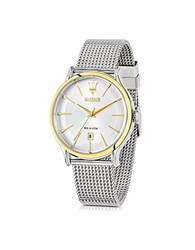 Maserati Epoca White Dial Stainless Steel Men's Watch