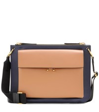 Marni Pocket Bandoleer Leather Crossbody Bag Multicoloured