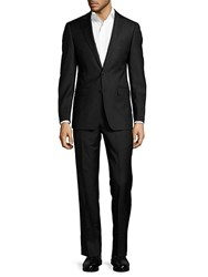 Calvin Klein Two Piece Extreme Slim Fit Wool Suit Black