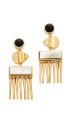 Lizzie Fortunato Con Dao Earrings Gold Black White