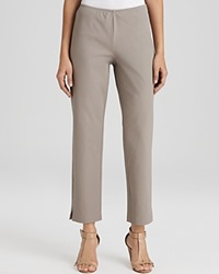 Eileen Fisher Petites' Organic Stretch Cotton Twill Slim Ankle Pants Stone