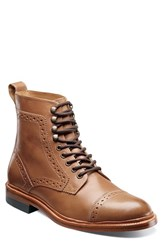 Stacy Adams Men's Madison Ii Cap Toe Boot Tan Smooth