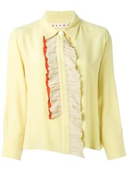 Marni Ruffle Trim Blouse Yellow And Orange