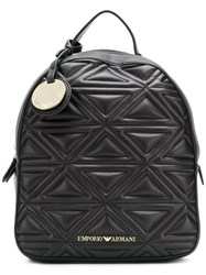 Emporio Armani Quilted Effect Backpack Black
