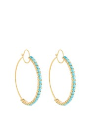 Irene Neuwirth Turquoise And Yellow Gold Earrings
