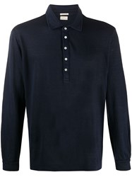 Massimo Alba Linen Long Sleeve Polo Shirt 60