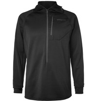 Patagonia R1 Polartec Power Grid Fleece Back Jersey Hoodie Black