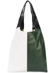 Hayward Grand Shopper Tote Women Calf Leather Calf Suede One Size Green