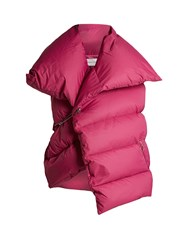 Marques Almeida Asymmetric Quilted Down Gilet Pink