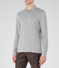Reiss Loud Mens Relaxed Cotton Shirt In Grey