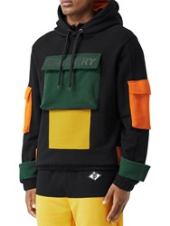 Burberry Cotton Jersey Hoodie W Pouch Pocket Multicolor