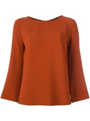 Odeeh Flared Sleeves Blouse Yellow And Orange