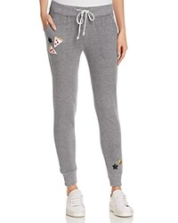 Bow And Drape The Jogger Pizza Stars Sweatpants Light Grey