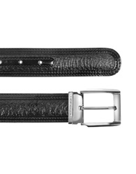 Moreschi Chiasso Black Peccary And Calf Leather Belt