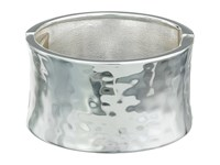 Robert Lee Morris Wide Hammered Hinge Bangle Bracelet Silver Bracelet