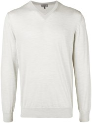 Lanvin V Neck Sweater Grey