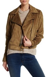Lucky Brand Faux Suede Jacket Brown