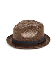 Paul Smith Bovens Panama Hat Red Navy Brown