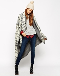 Asos Oversized Reversible Check Scarf Grey