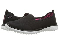Skechers Microburst It's My Life Black White Women's Shoes