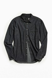 Urban Outfitters Bdg 90S Denim Button Down Shirt Black