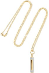 Foundrae Water 18 Karat Yellow And White Gold Necklace